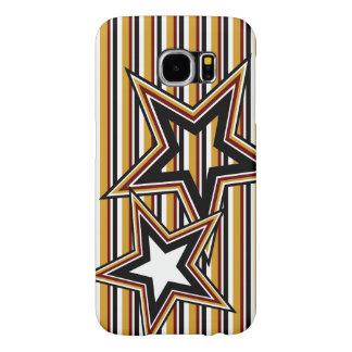 Capa Para Samsung Galaxy S6 Estrela e listras Funky