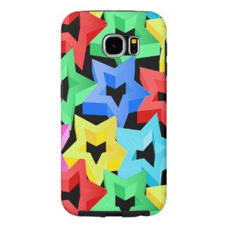 Capa Para Samsung Galaxy S6 Estrelas 3D coloridas