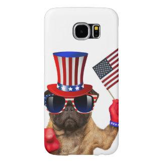 Capa Para Samsung Galaxy S6 Eu quero-o, pug, cão do tio Sam,