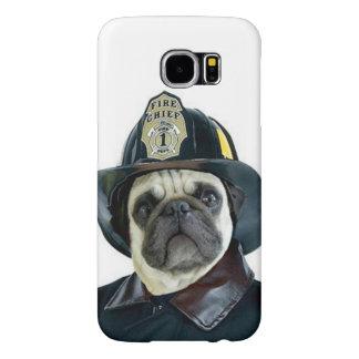 Capa Para Samsung Galaxy S6 Exemplo de Samsung s6 do cão do pug do bombeiro