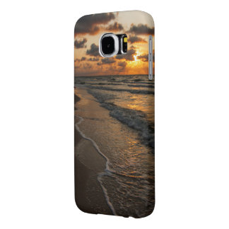 Capa Para Samsung Galaxy S6 Exemplo de Samsung S6 - nascer do sol da praia