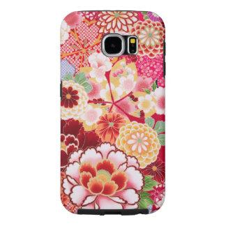 Capa Para Samsung Galaxy S6 Explosão floral vermelha de Falln