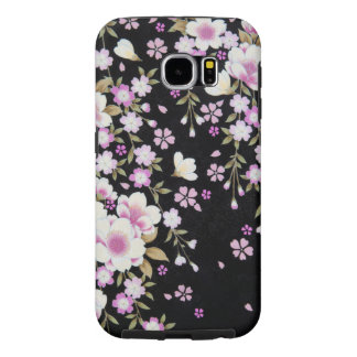 Capa Para Samsung Galaxy S6 Falln que conecta flores cor-de-rosa