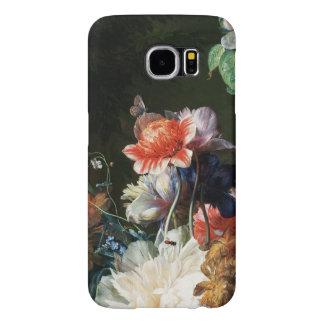 Capa Para Samsung Galaxy S6 FLORES BRANCAS das ANÊMONAS ROSAS VERMELHA,
