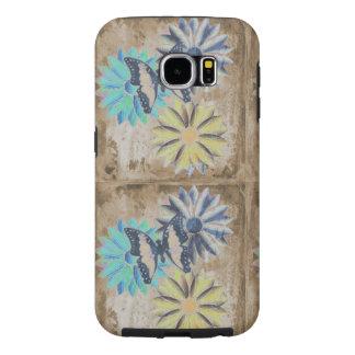 Capa Para Samsung Galaxy S6 Flores das margaridas da borboleta no exemplo de