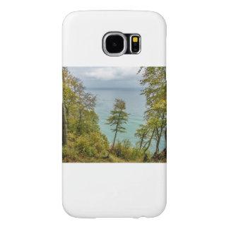 Capa Para Samsung Galaxy S6 Floresta litoral na costa de mar Báltico
