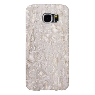 Capa Para Samsung Galaxy S6 Fora da caixa fina branca da galáxia da textura do