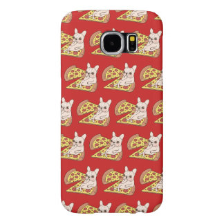 Capa Para Samsung Galaxy S6 Frenchie de creme convida-o a seu partido da pizza