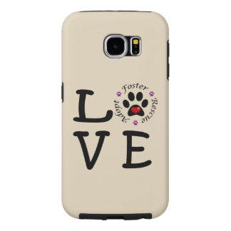Capa Para Samsung Galaxy S6 Galáxia animal S6 de Samsung do amor do salvamento