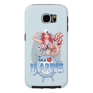 "Capa Para Samsung Galaxy S6 Galáxia MARINHA ""SEXY"" S6 de Samsung dos DESENHOS"