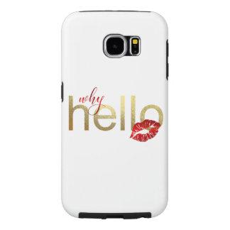 "Capa Para Samsung Galaxy S6 Galáxia S ""porque olá!"" caixa da folha de ouro"