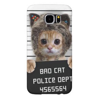 Capa Para Samsung Galaxy S6 gato do mugshot - gato louco - gatinho - felino