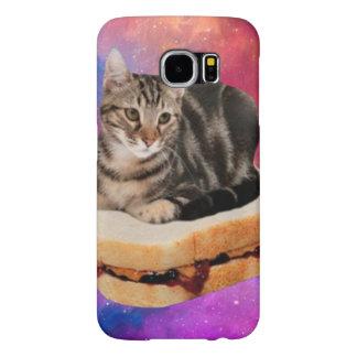 Capa Para Samsung Galaxy S6 gato do pão - gato do espaço - gatos no espaço