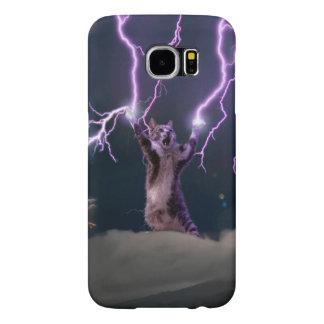 Capa Para Samsung Galaxy S6 Gato do relâmpago--gato do gatinho-animal de