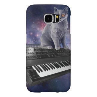 Capa Para Samsung Galaxy S6 gato do teclado - música do gato - espace o gato