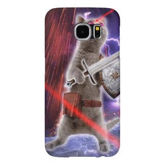 Capa Para Samsung Galaxy S6 gatos do guerreiro - gato do cavaleiro - laser do