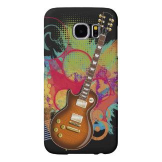 Capa Para Samsung Galaxy S6 Grunge da guitarra da rocha