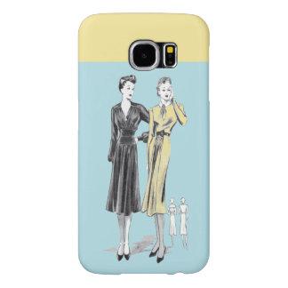 Capa Para Samsung Galaxy S6 Impressão do desenhador de moda do vintage das