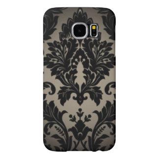 Capa Para Samsung Galaxy S6 Impressão preto & cinzento da cor damasco