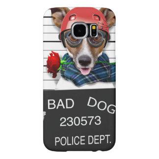 Capa Para Samsung Galaxy S6 Jaque engraçado russell, cão do Mugshot