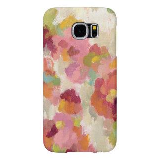 Capa Para Samsung Galaxy S6 Jardim coral e esmeralda