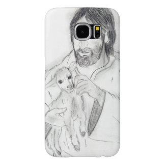 Capa Para Samsung Galaxy S6 Jesus com cordeiro