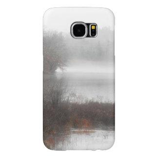 Capa Para Samsung Galaxy S6 Lago nevoento em um dia de inverno