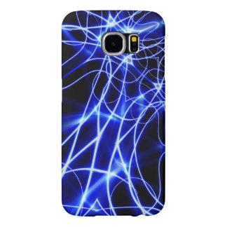 Capa Para Samsung Galaxy S6 Linhas azuis da energia, flash do azul da fantasia