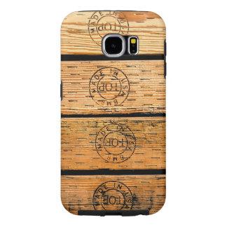 Capa Para Samsung Galaxy S6 Listras de madeira feitas nos EUA
