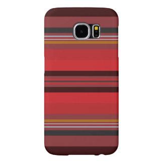Capa Para Samsung Galaxy S6 Listras - horizonte vermelho