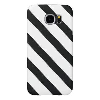 Capa Para Samsung Galaxy S6 Listrou (diagonal preta & do branco |) todo o