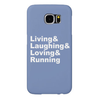 Capa Para Samsung Galaxy S6 Living&Laughing&Loving&RUNNING (branco)