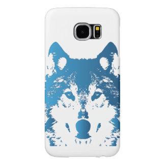 Capa Para Samsung Galaxy S6 Lobo do azul de gelo da ilustração