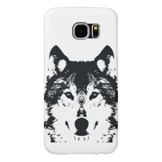 Capa Para Samsung Galaxy S6 Lobo preto da ilustração