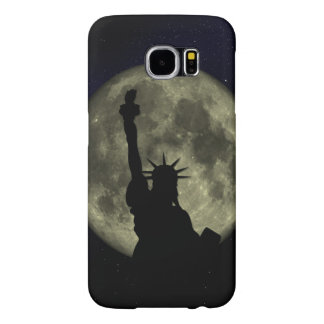 Capa Para Samsung Galaxy S6 Lua e senhora Liberdade
