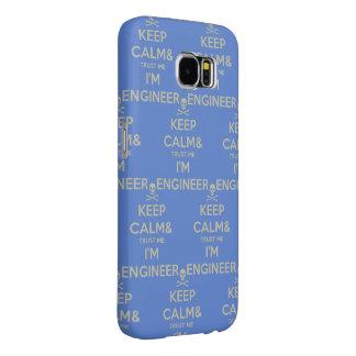 Capa Para Samsung Galaxy S6 Mantenha a calma e confie-a que eu mim é