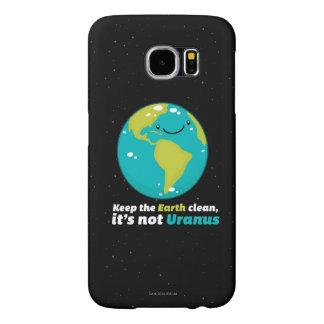 Capa Para Samsung Galaxy S6 Mantenha a terra limpa