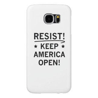 Capa Para Samsung Galaxy S6 Mantenha América aberta