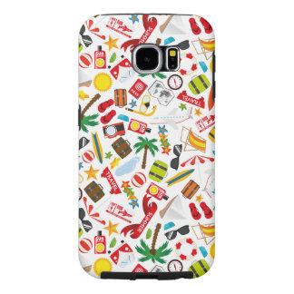 Capa Para Samsung Galaxy S6 Mar sul do viagem das férias de verão do teste