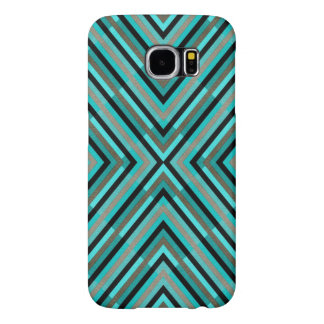 Capa Para Samsung Galaxy S6 Máscaras Checkered diagonais modernas do teste