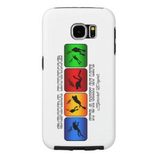 Capa Para Samsung Galaxy S6 Mergulho autónomo legal é um modo de vida