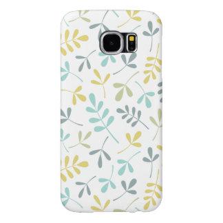 Capa Para Samsung Galaxy S6 Mistura Assorted da cor do teste padrão das folhas