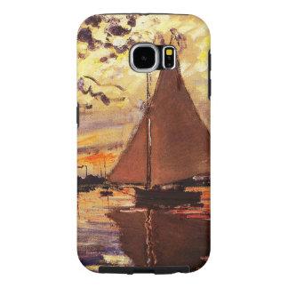 Capa Para Samsung Galaxy S6 Monet-Veleiro de Claude em Le