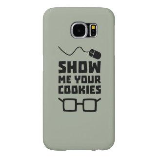 Capa Para Samsung Galaxy S6 Mostre-me seu geek Zb975 dos biscoitos