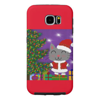 Capa Para Samsung Galaxy S6 Natal de Meowy