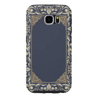 Capa Para Samsung Galaxy S6 nouveau da arte, azul marinho, ouro, antiguidade,