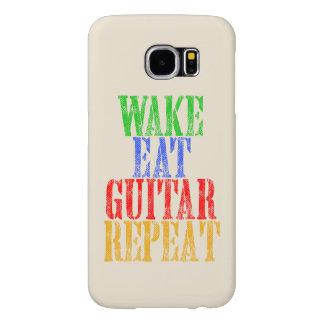 Capa Para Samsung Galaxy S6 O acordar come a repetição da GUITARRA