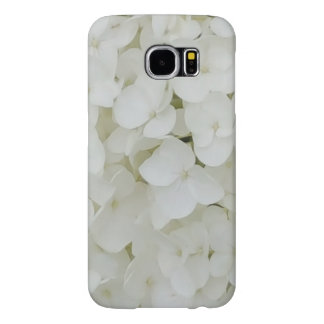 Capa Para Samsung Galaxy S6 O Hydrangea floresce a flor elegante branca floral