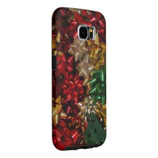 Capa Para Samsung Galaxy S6 O Natal curva o feriado festivo colorido