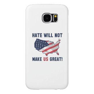 Capa Para Samsung Galaxy S6 O ódio não fará o excelente dos E.U.